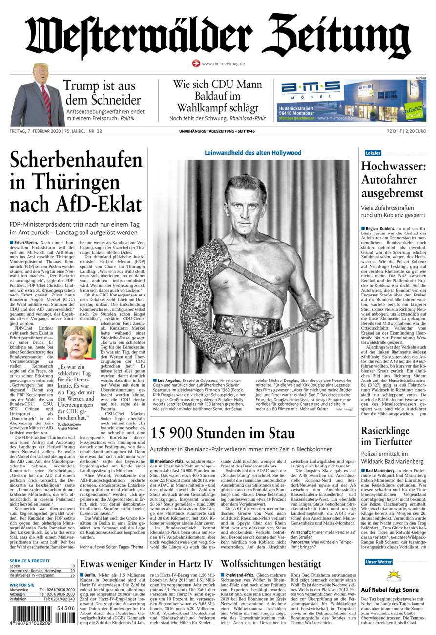 Westerwälder Zeitung vom Freitag, 07.02.2020