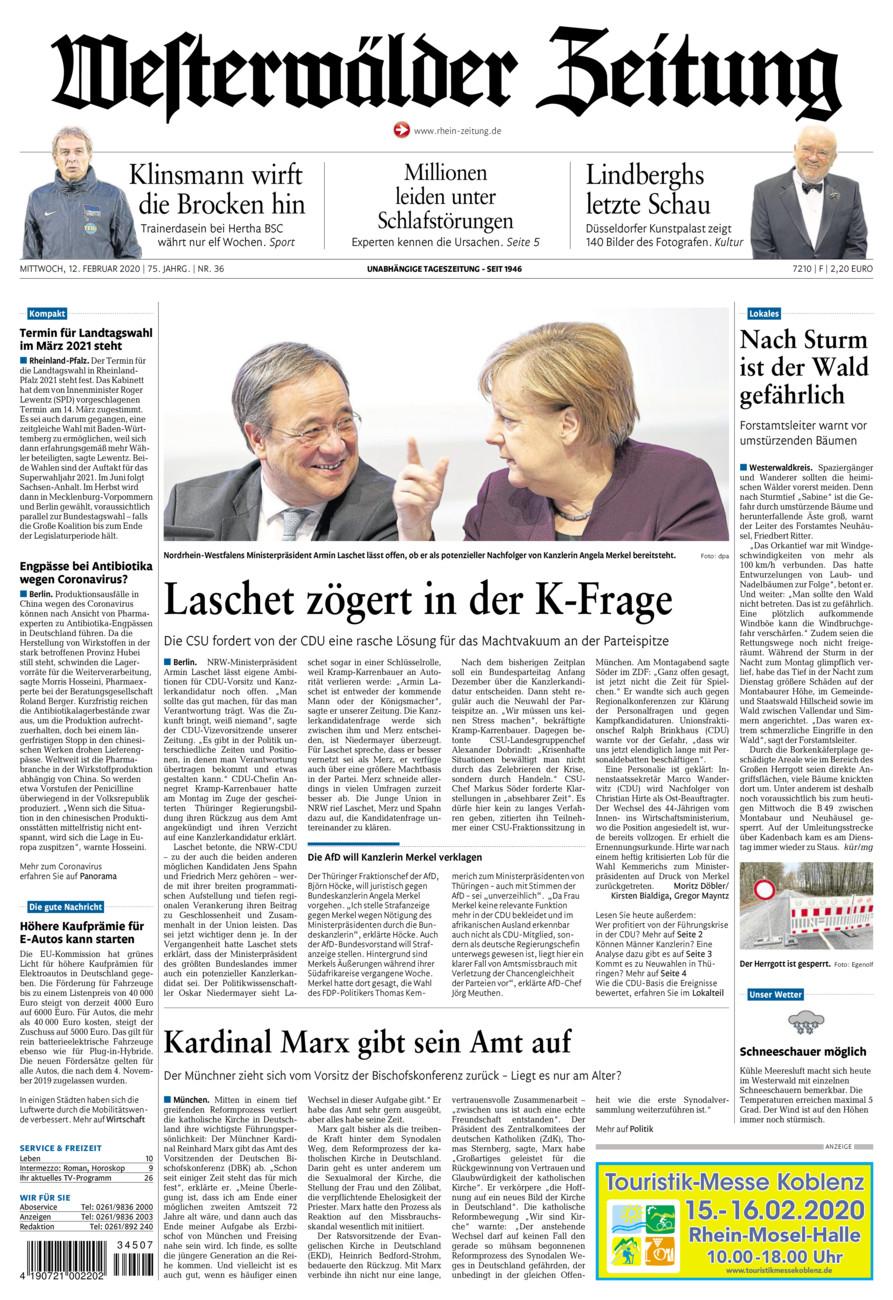 Westerwälder Zeitung vom Mittwoch, 12.02.2020
