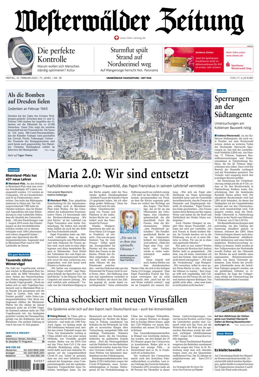 Westerwälder Zeitung vom Freitag, 14.02.2020