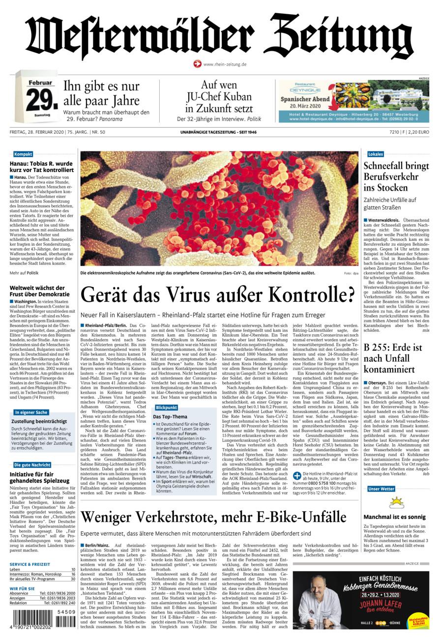 Westerwälder Zeitung vom Freitag, 28.02.2020