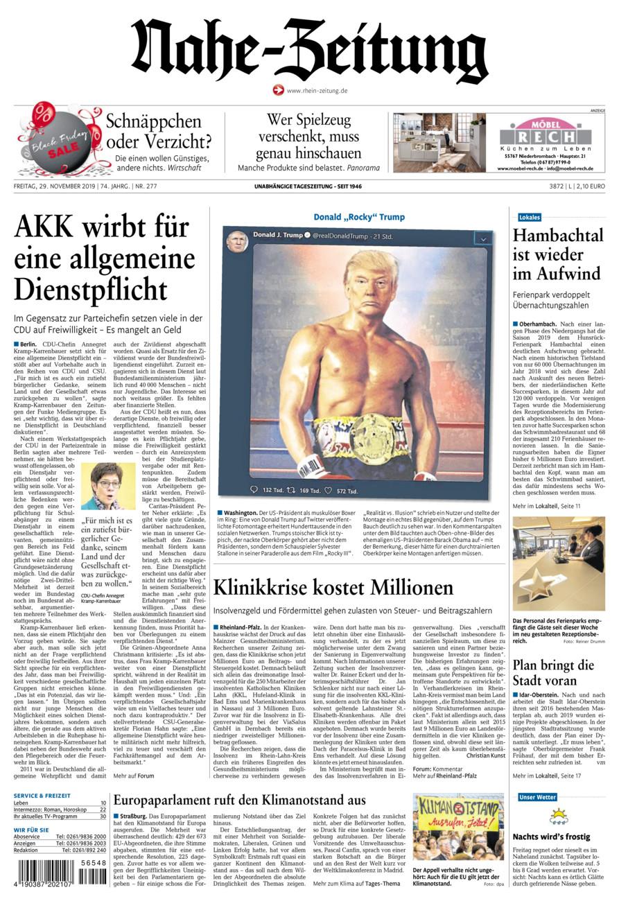 Nahe-Zeitung vom Freitag, 29.11.2019