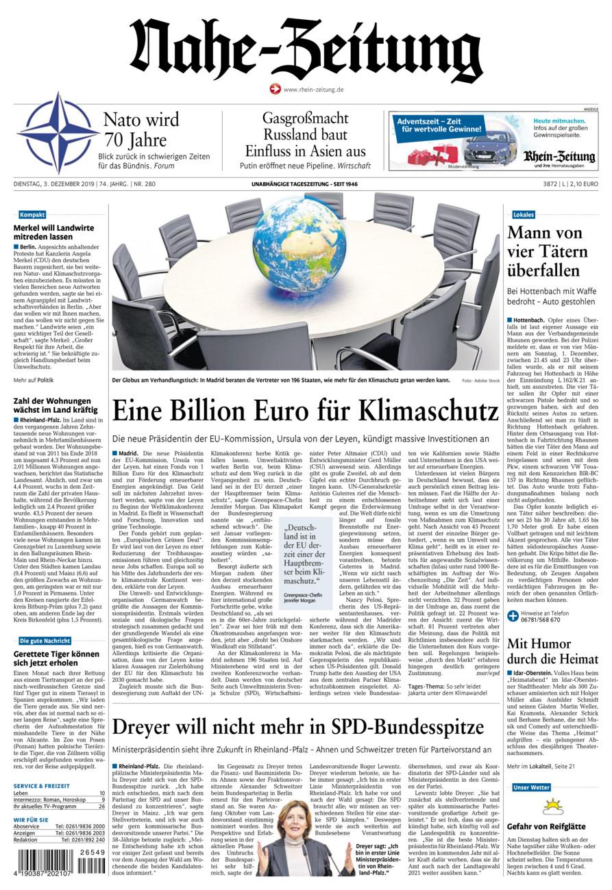 Nahe-Zeitung vom Dienstag, 03.12.2019