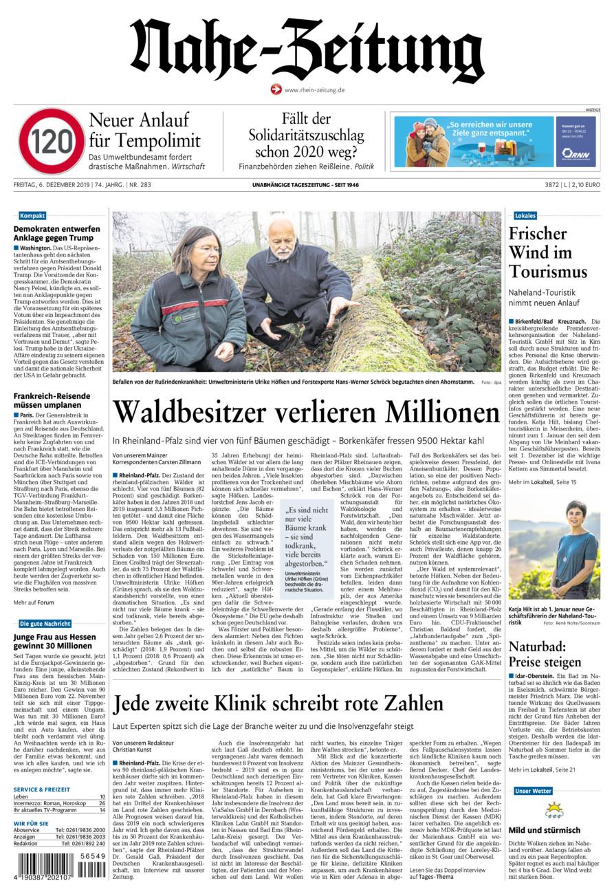 Nahe-Zeitung vom Freitag, 06.12.2019