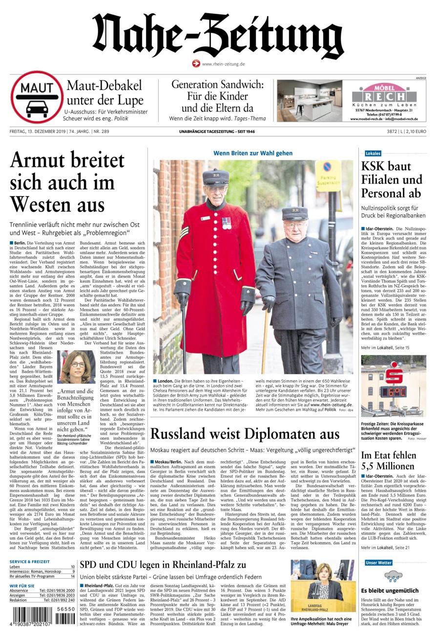 Nahe-Zeitung vom Freitag, 13.12.2019