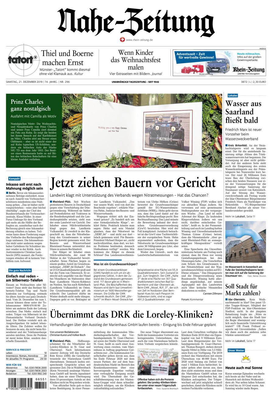 Nahe-Zeitung vom Samstag, 21.12.2019