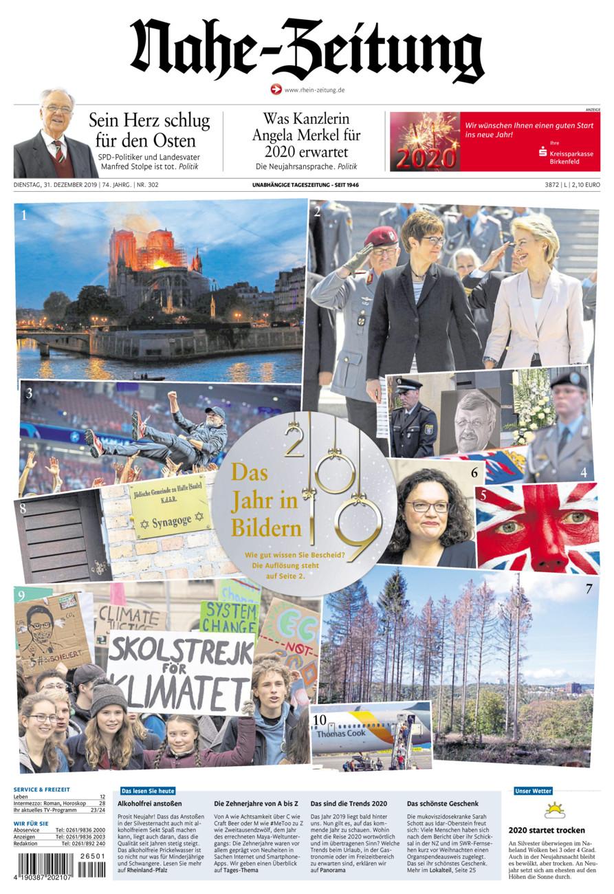 Nahe-Zeitung vom Dienstag, 31.12.2019