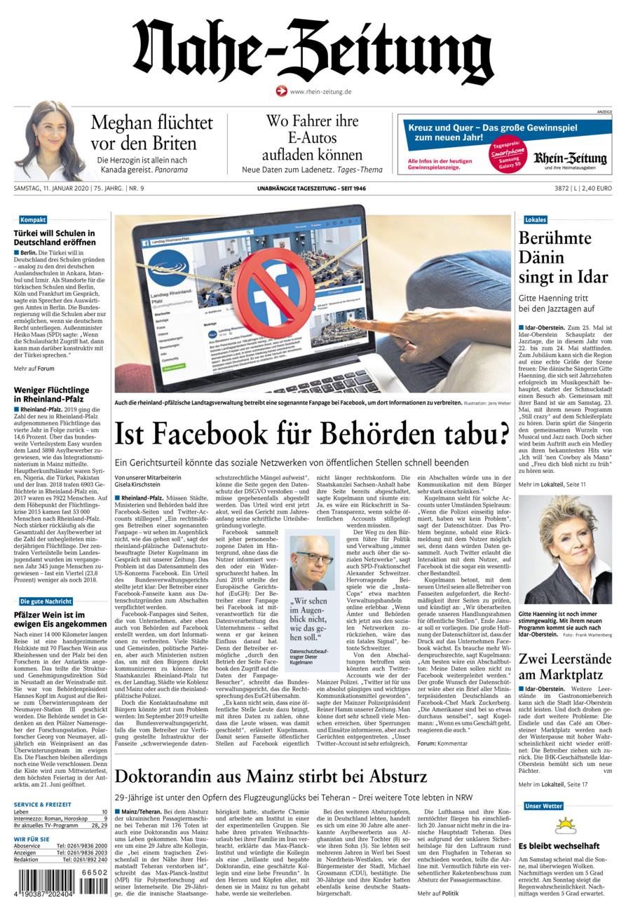 Nahe-Zeitung vom Samstag, 11.01.2020