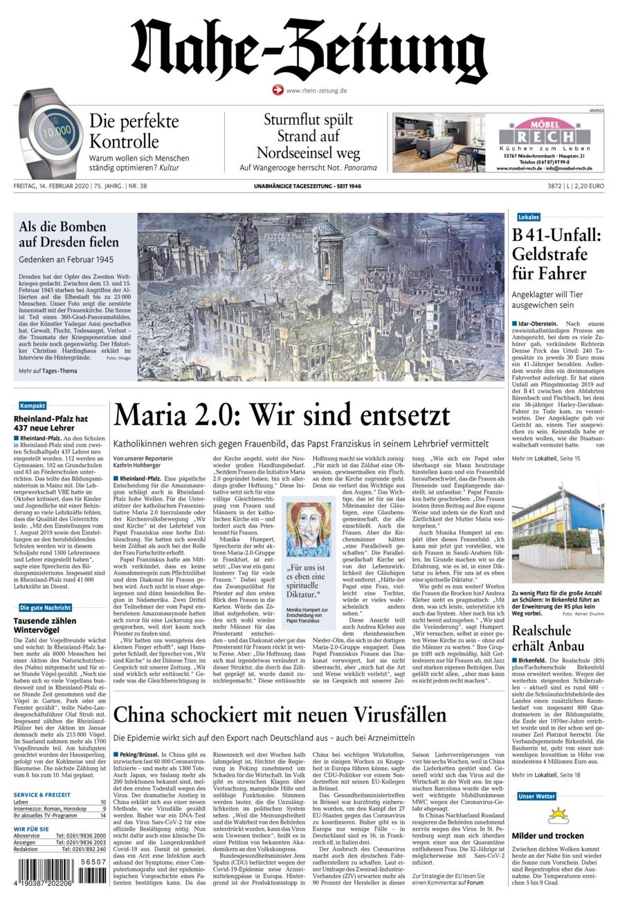 Nahe-Zeitung vom Freitag, 14.02.2020