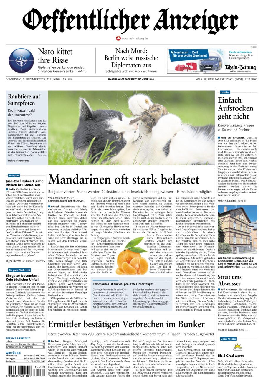 Oeffentlicher Anzeiger Kirn vom Donnerstag, 05.12.2019