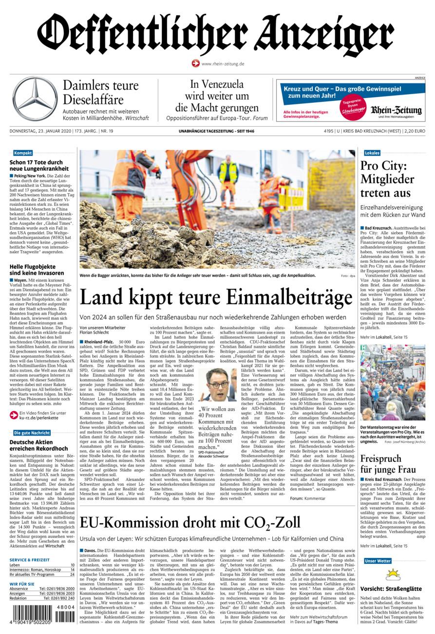 Oeffentlicher Anzeiger Kirn vom Donnerstag, 23.01.2020