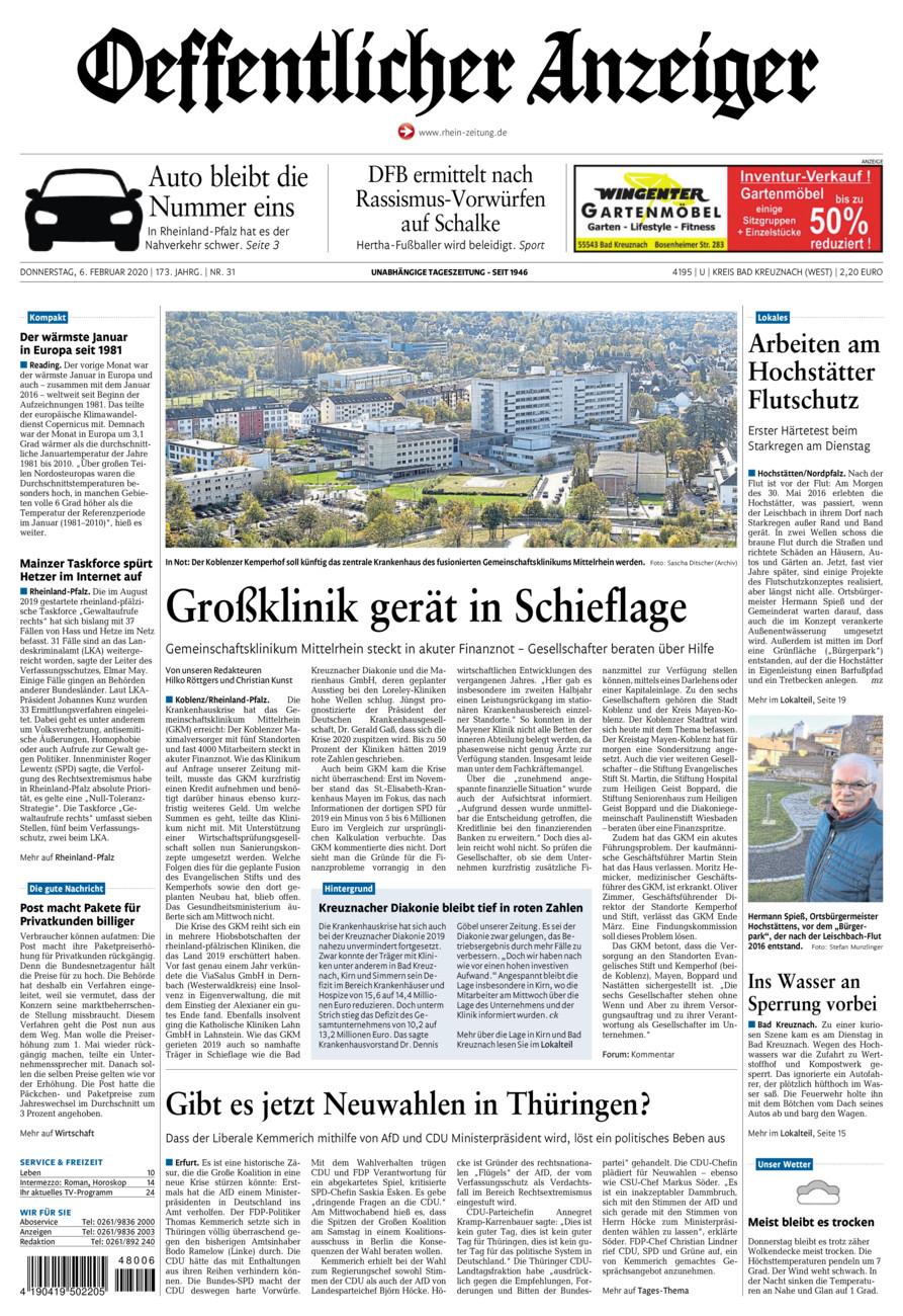 Oeffentlicher Anzeiger Kirn vom Donnerstag, 06.02.2020