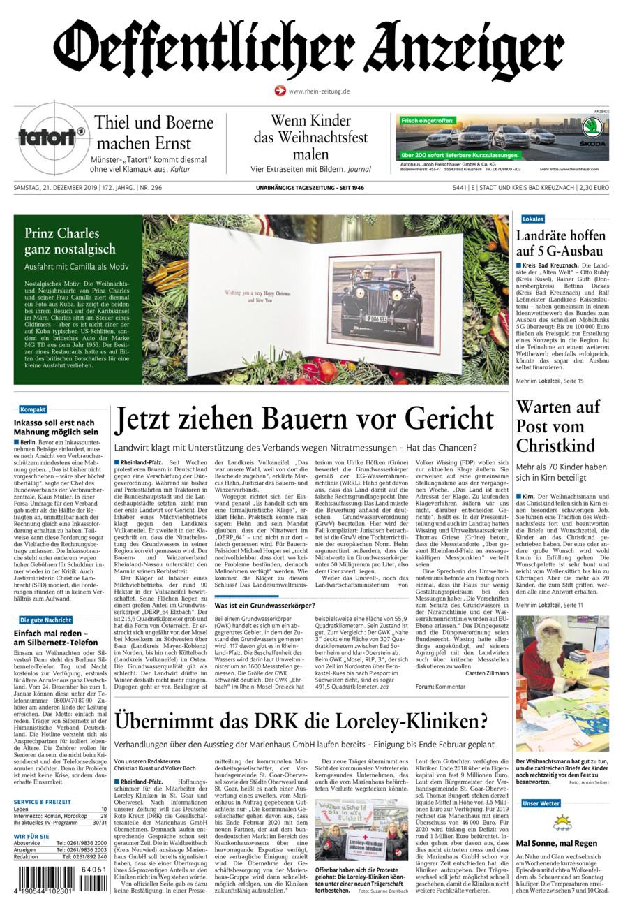 Oeffentlicher Anzeiger Bad Kreuznach vom Samstag, 21.12.2019